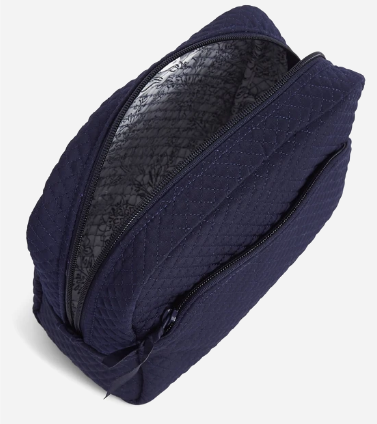 Large Cosmetic Bag in Classic Navy
