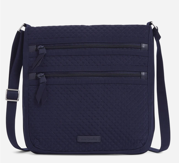 Triple Zip Hipster in Classic Navy
