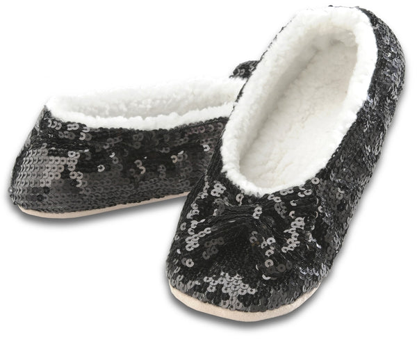 Women's Classic Bling Snoozies in Black
