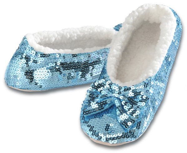 Women's Classic Bling Snoozies in Agua