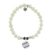 Champions Collection Bracelet, White Pearl Stone - (Select Charm Inside)