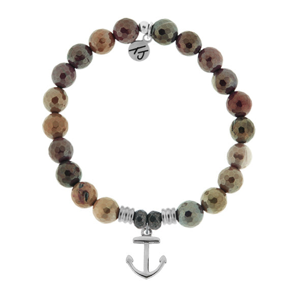 Core Collection Bracelet, Mookaite Stone - (Select Charm Inside)