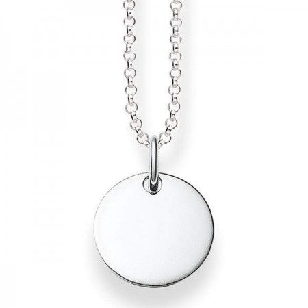 Love Bridge, Silver Circle Necklace, 40-45 cm
