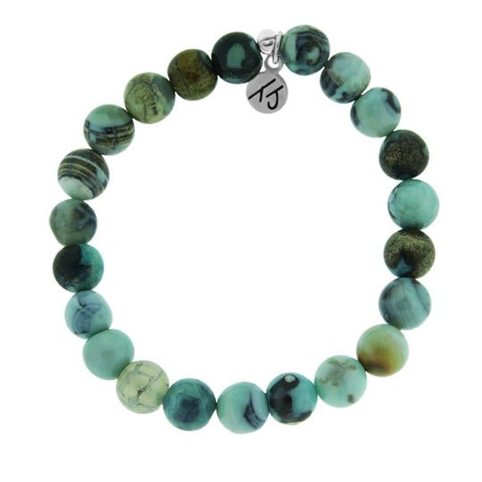 Core Collection Bracelet, Turquoise Jasper Stone - (Select Charm Inside)