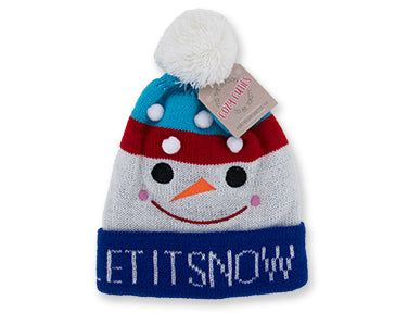 Cozy Cuties Kid's Holiday Knitted Hat - Snowman