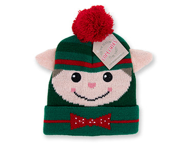 Cozy Cuties Kid's Holiday Knitted Hat - Elf