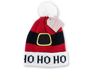 Cozy Cuties Kid's Holiday Knitted Hat - Ho Ho Ho