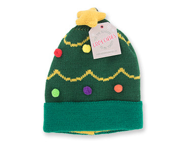 Cozy Cuties Kid's Holiday Knitted Hat - Christmas Tree
