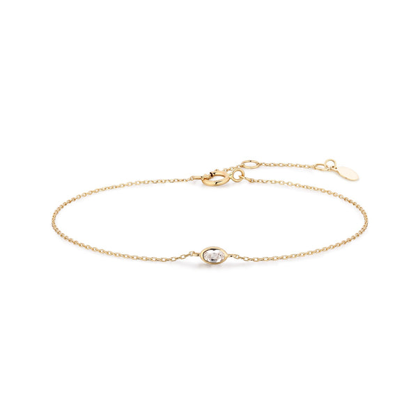 Delicate Gold and Diamond Bracelet