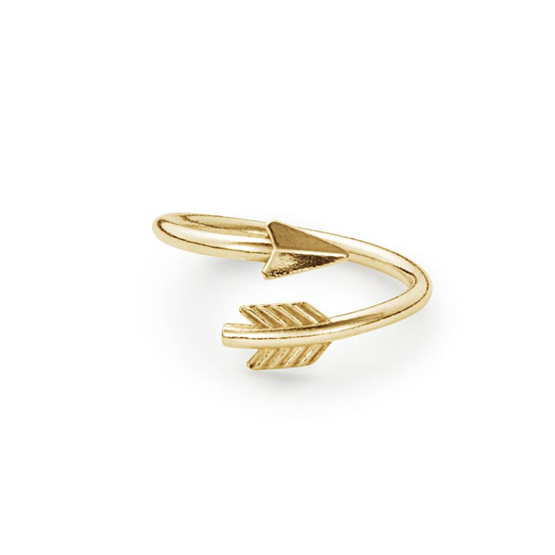Ring Wrap, Eros Arrow, Gold Finish