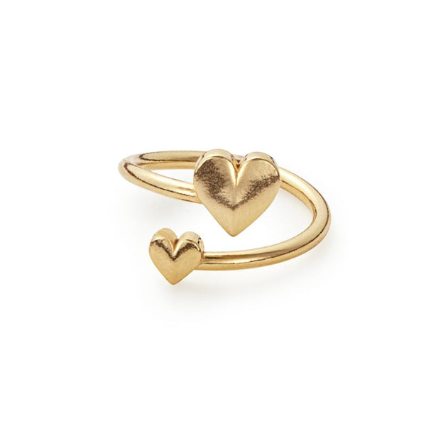Ring Wrap, Romance Heart, Gold Finish