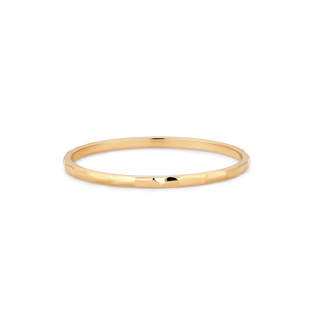 Gold Wavering Ring