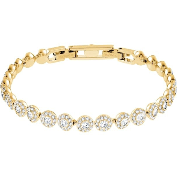 Angelic Bracelet, White, Gold Plated