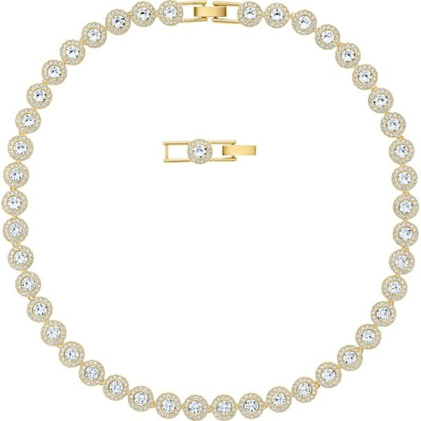 Angelic Necklace, White, Gold Plated