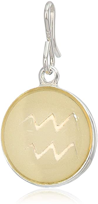 Alex and Ani Necklace Charm - Etching Charm, Aquarius, Sterling Silver LTD