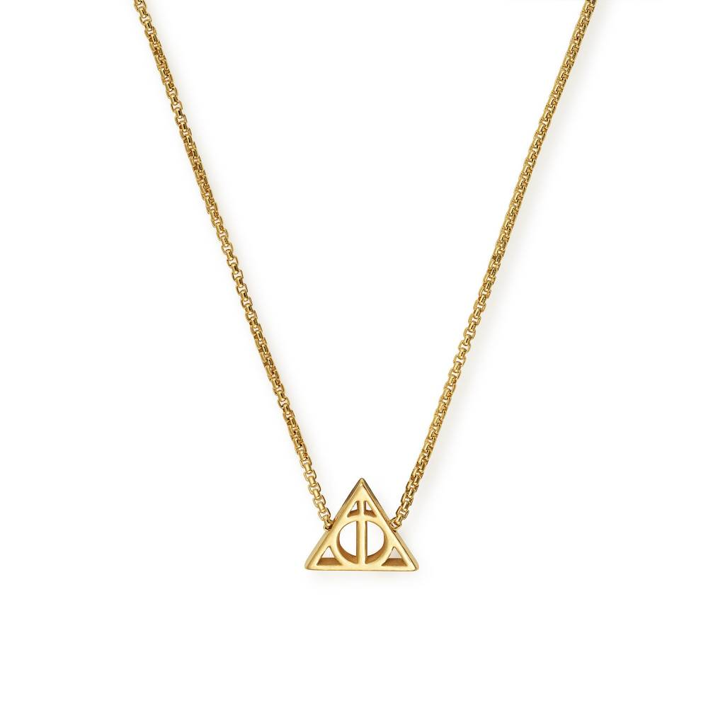 Harry Potter Deathly Hallows Necklace, 14kt Gp