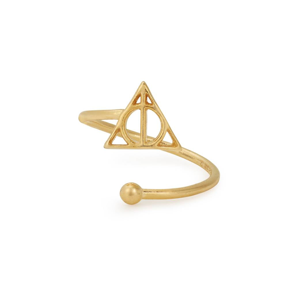 Harry Potter Deathly Hallows Ring Wrap, 14kt Gp