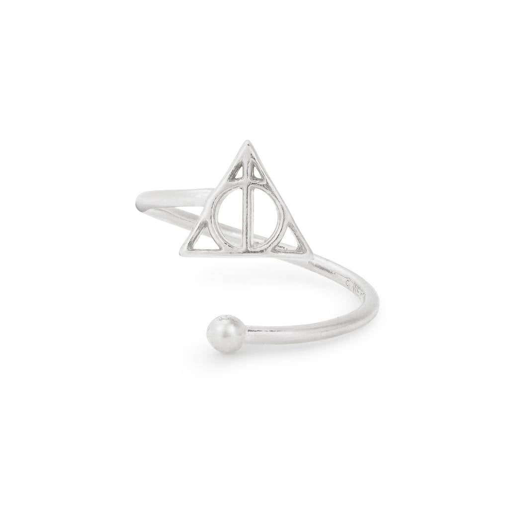 Harry Potter Deathly Hallows Ring Wrap, Sterling Silver