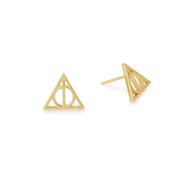 Harry Potter Deathly Hallows Earring, 14kt Gp