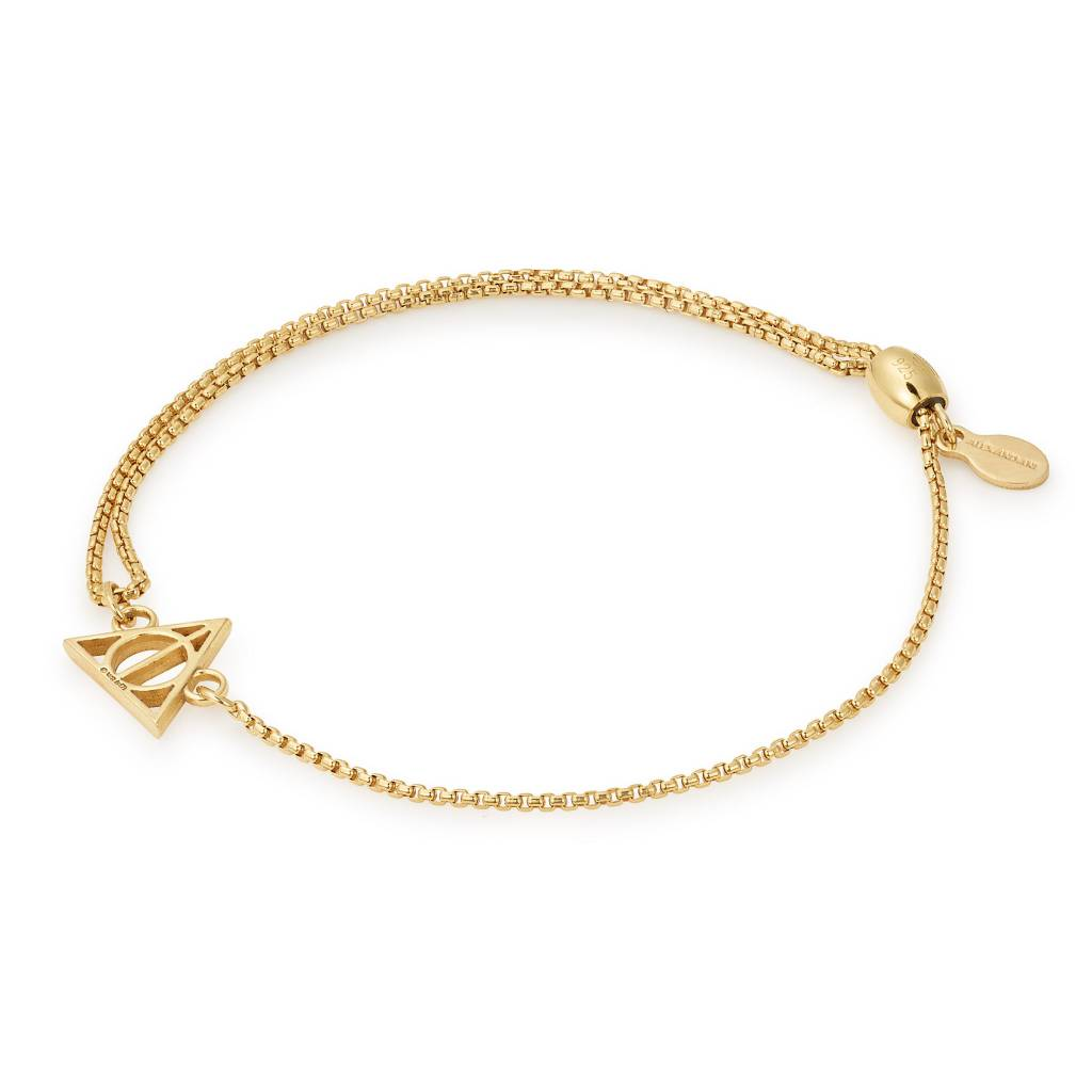 Harry Potter Deathly Hallows Pull Chain Bracelet, 14kt Gp