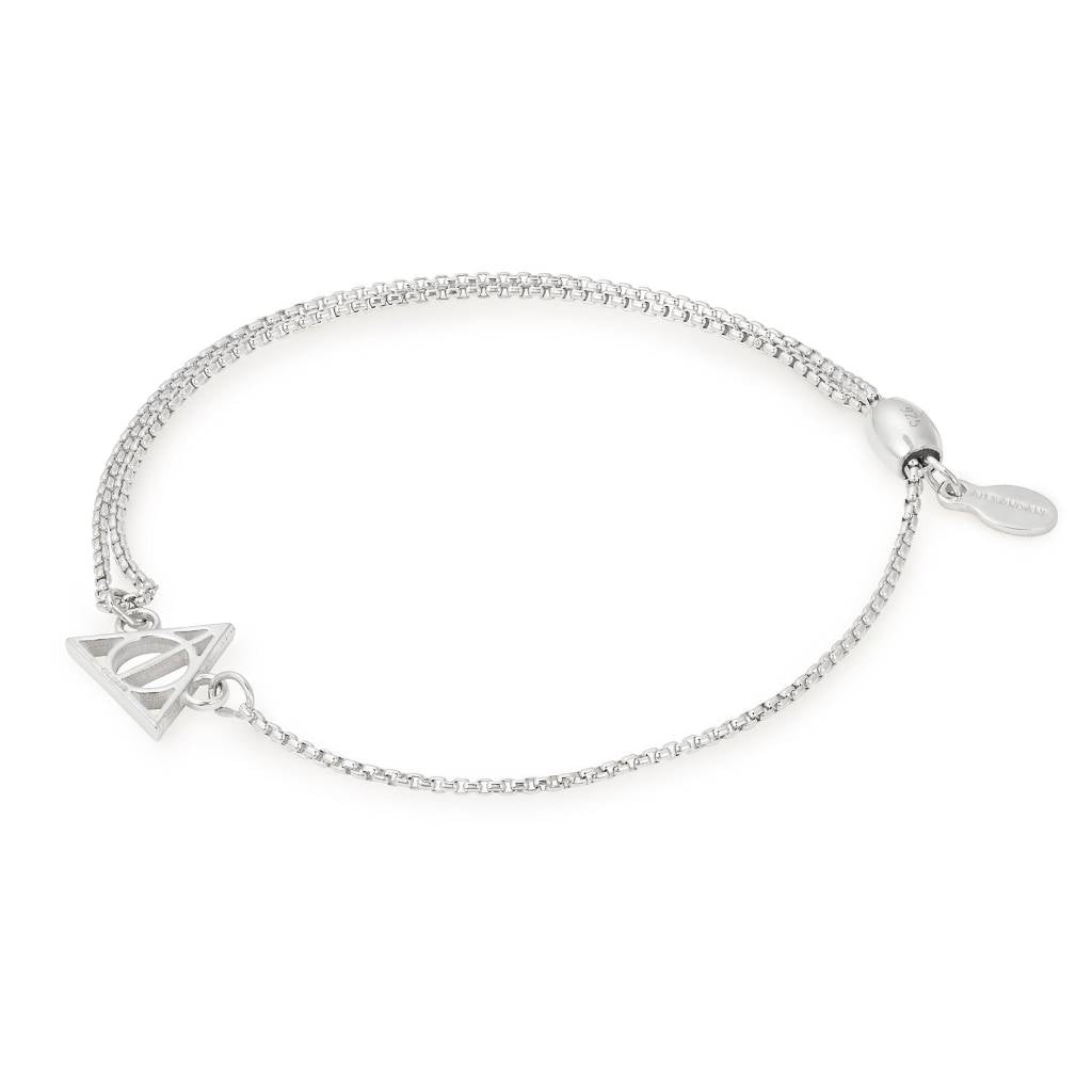 Harry Potter Deathly Hallows Pull Chain Bracelet, Sterling Silver