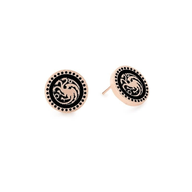 Game of Thrones Earrings, Targaryen 14kt Rose Gold