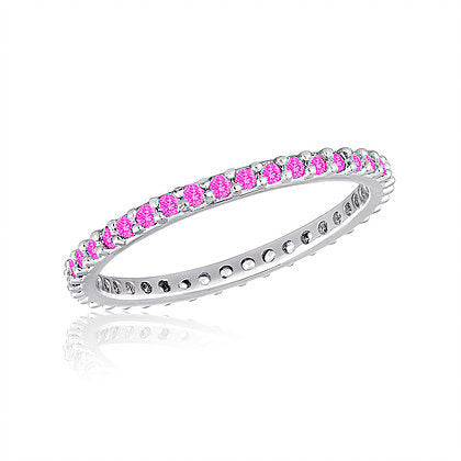 Thin Diamond Light Rose Stack Ring