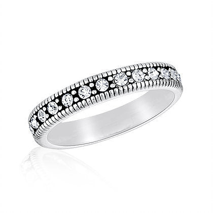 CZ Eternity Stack Ring
