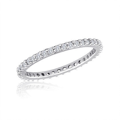 Thin Diamond Clear Stack Ring