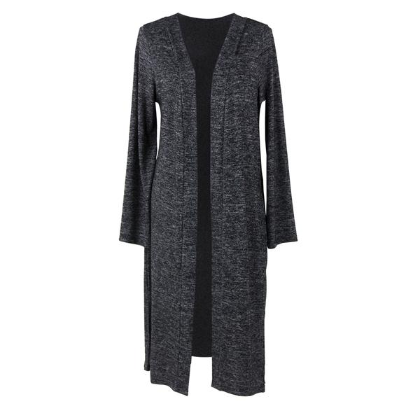 Carefree Threads Long Cardigan - Black