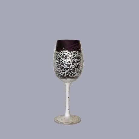 Bride (White Detail) Wine Glass