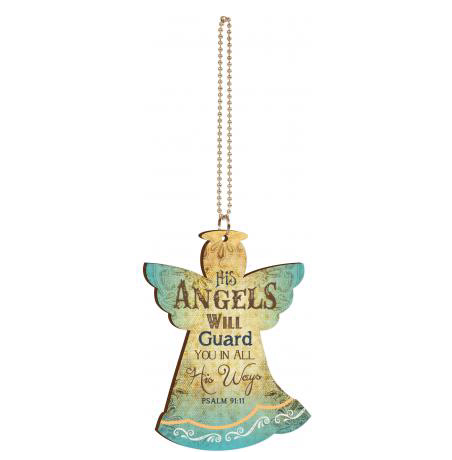 Angels Will Guard Car Charm