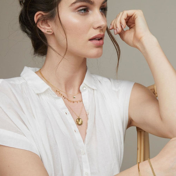 Chloe Mini Necklace, Gold