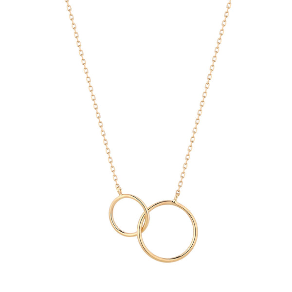 Gold Interlinked Rings Gold Necklace
