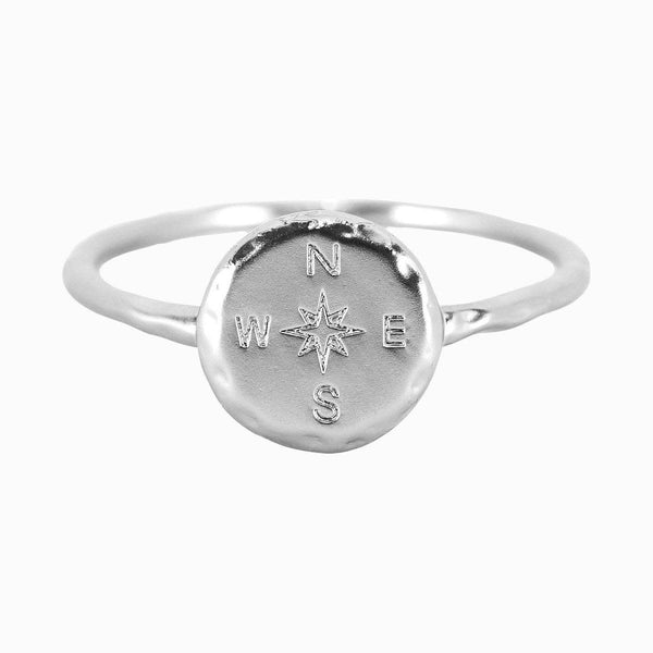 Compass Ring, Silver