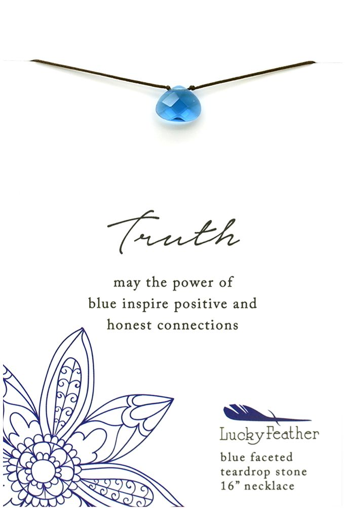 Truth Blue Faceted Stone Necklace