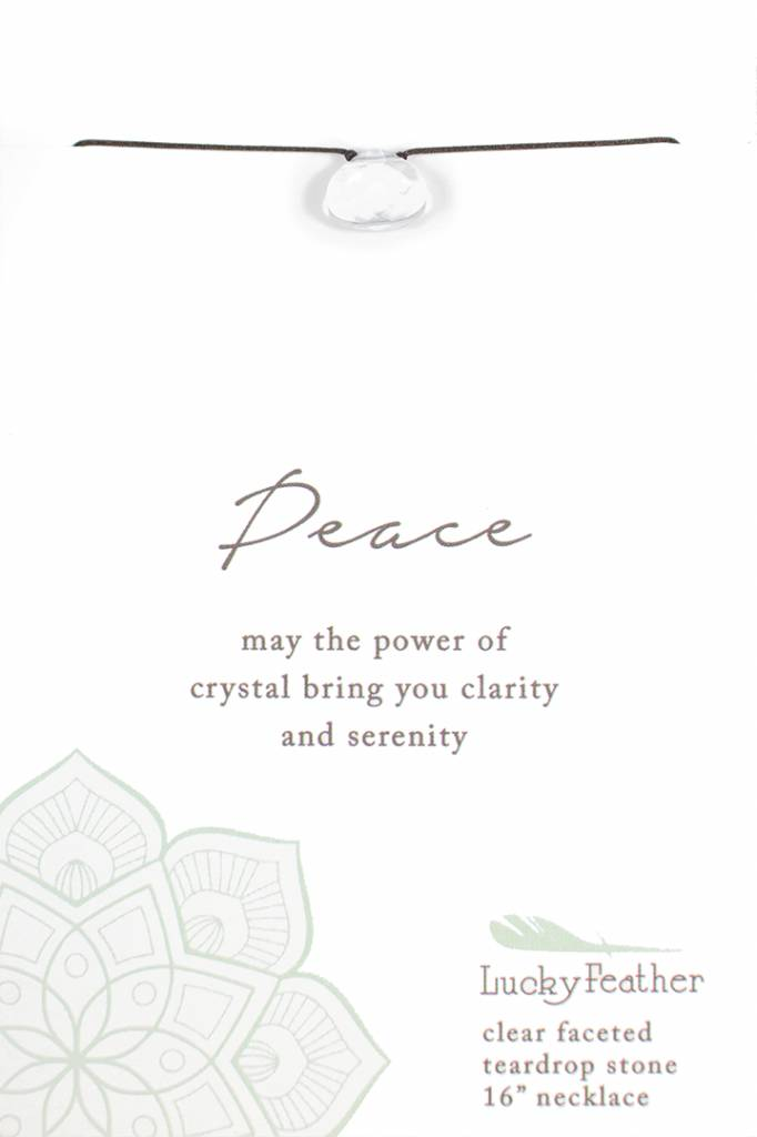 Peace Crystal Faceted Stone Necklace