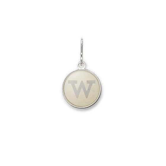 Etching Charm, Initial W, Sterling Silver
