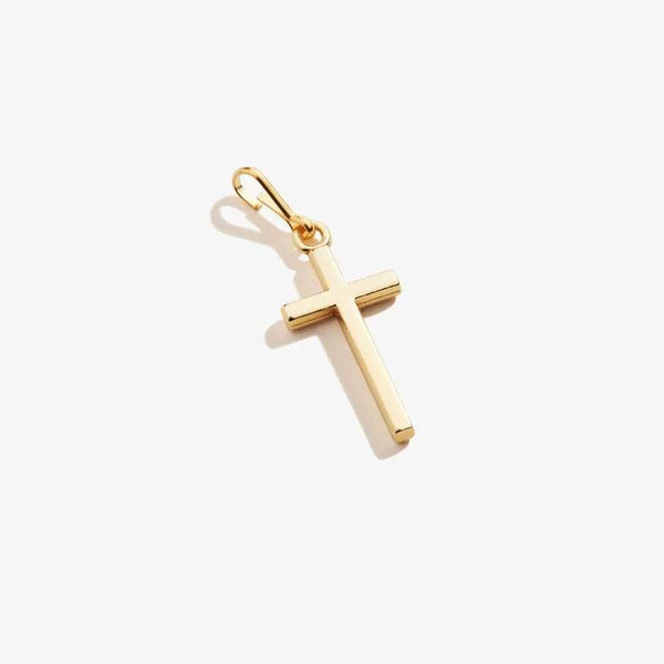 Cross Charm, 14KT Rose Gold Plated