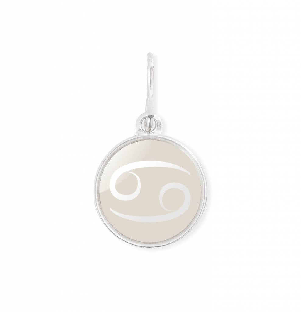 Etching Charm, Cancer, Sterling Silver