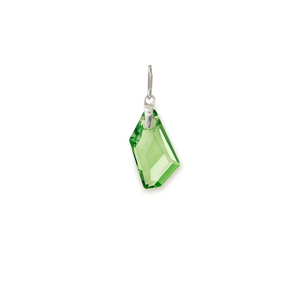 Swarovski Color Code Charm, Aug, Peridot Color, Sterling Silver