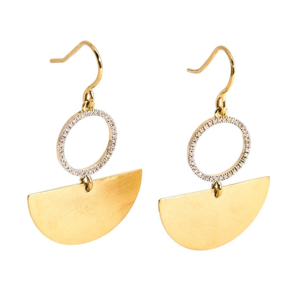 Dancing the Flamenco Earrings - Gold