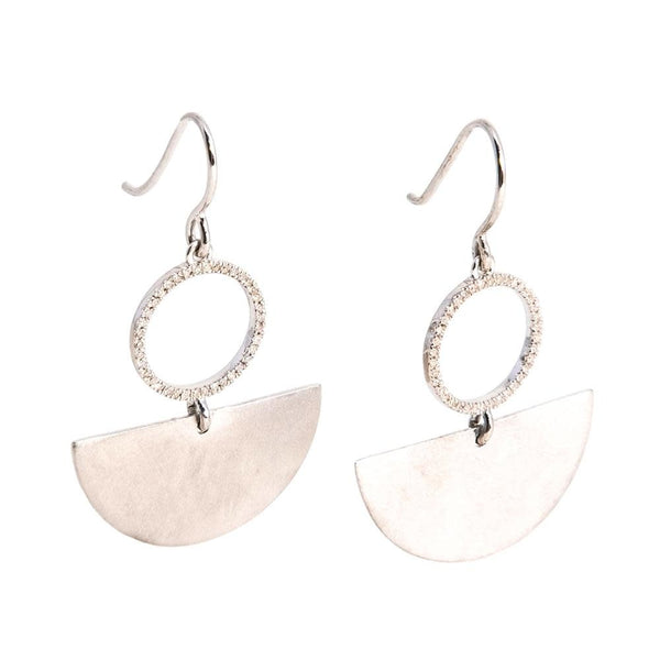 Dancing the Flamenco Earrings - Silver