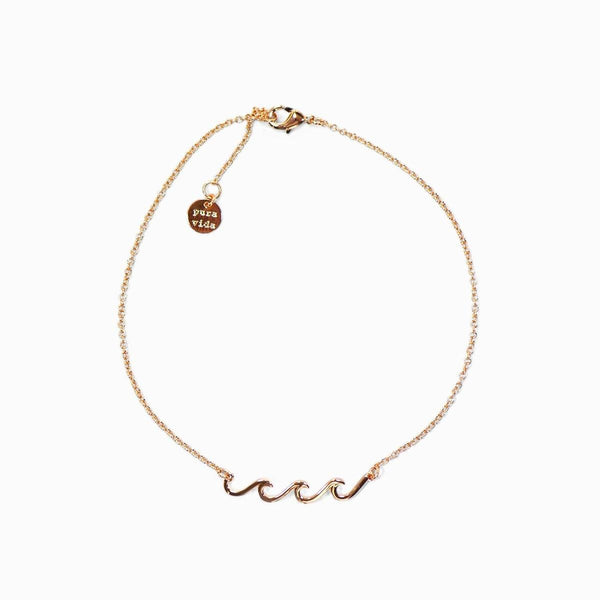 Delicate Wave Anklet-Rose Gold