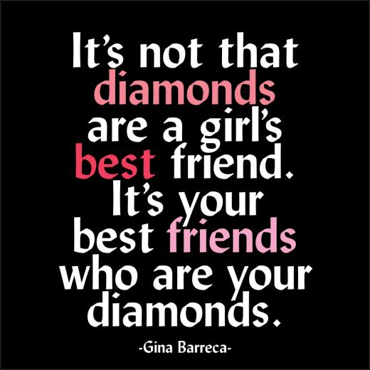 Card - Diamonds Are A Girl's Best Friend