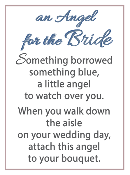 An Angel for the Bride Charm- 1 inch