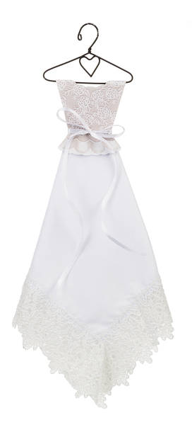 Blushing Bride Handkerchief Dress