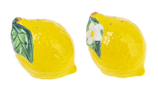 Lemon Salt & Pepper Shakers- 2 pc Set