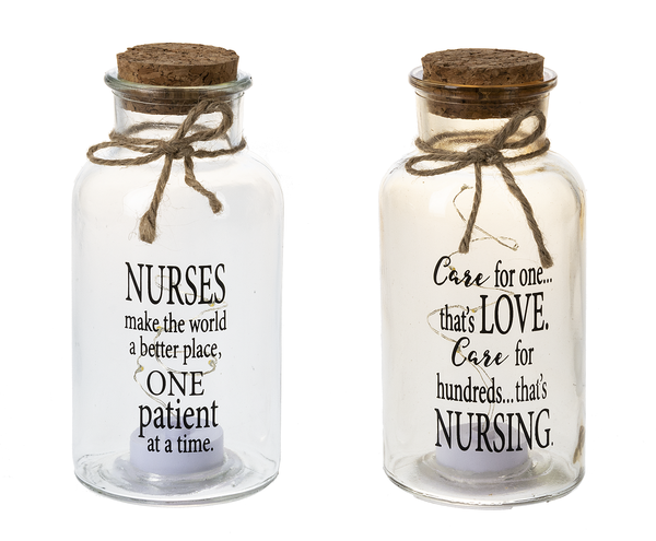 Nurse- Light Up Glass Jars