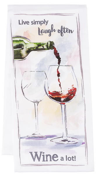 Wine Art Dish Towel